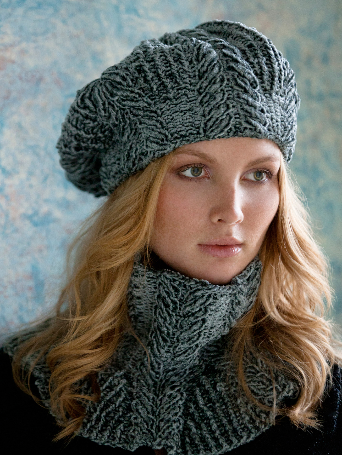 WEBS Yarn Store Blog   Free Pattern Thursday: Sandra Cabled Cowl & Beret ...