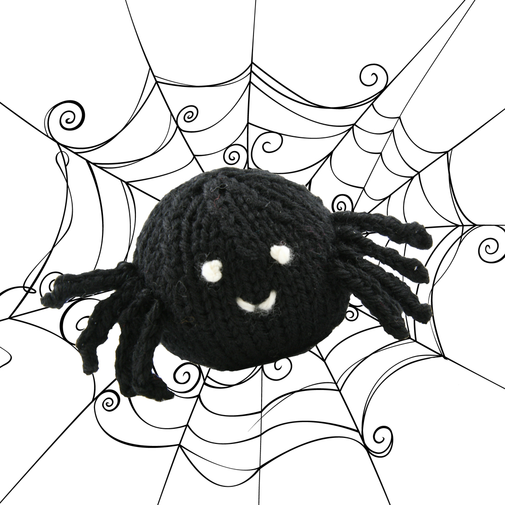 WEBS Yarn Store Blog   Free Pattern Thursday: Knit and Crocheted Spiders in V...
