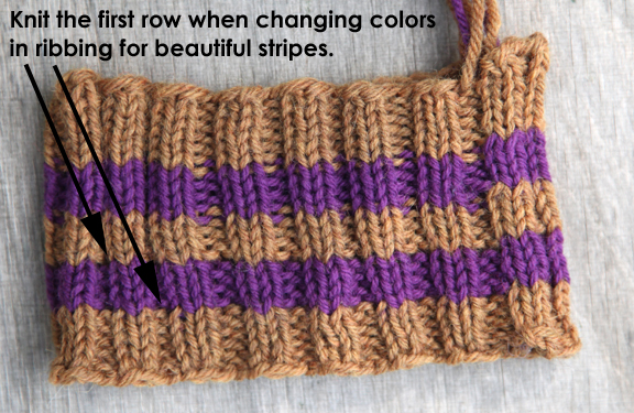 Knitting In The Round Changing Colors : Webs yarn store tuesday s knitting tip how to