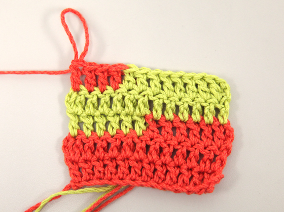 Crocheting How To Change Colors : ... Yarn Store Blog ? Tuesday?s Tip - How to Change Colors in Crochet