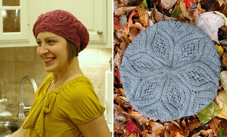 Knitting Blogs : Rose Red by Ysolda Teague knit in Valley Yarns Deerfield