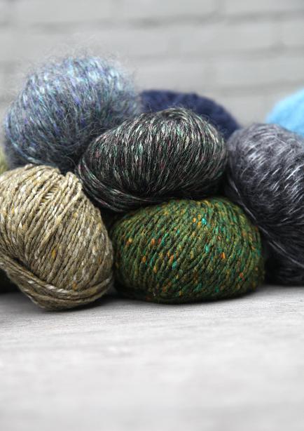 Rowan Yarn : Yarns picture above: Rowan Tweed Aran, Tumble, Frost, and Kidsilk Haze ...