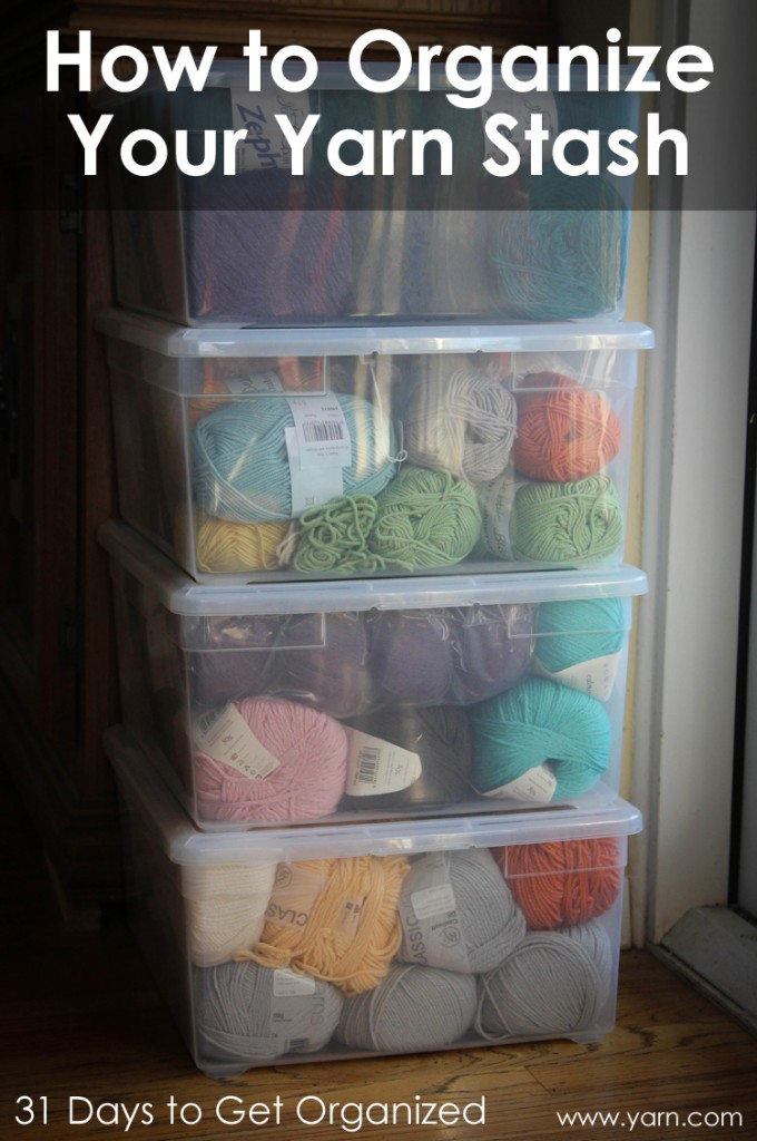 webs yarn store blog 31 days to get organized how to organize your yarn stash. Black Bedroom Furniture Sets. Home Design Ideas
