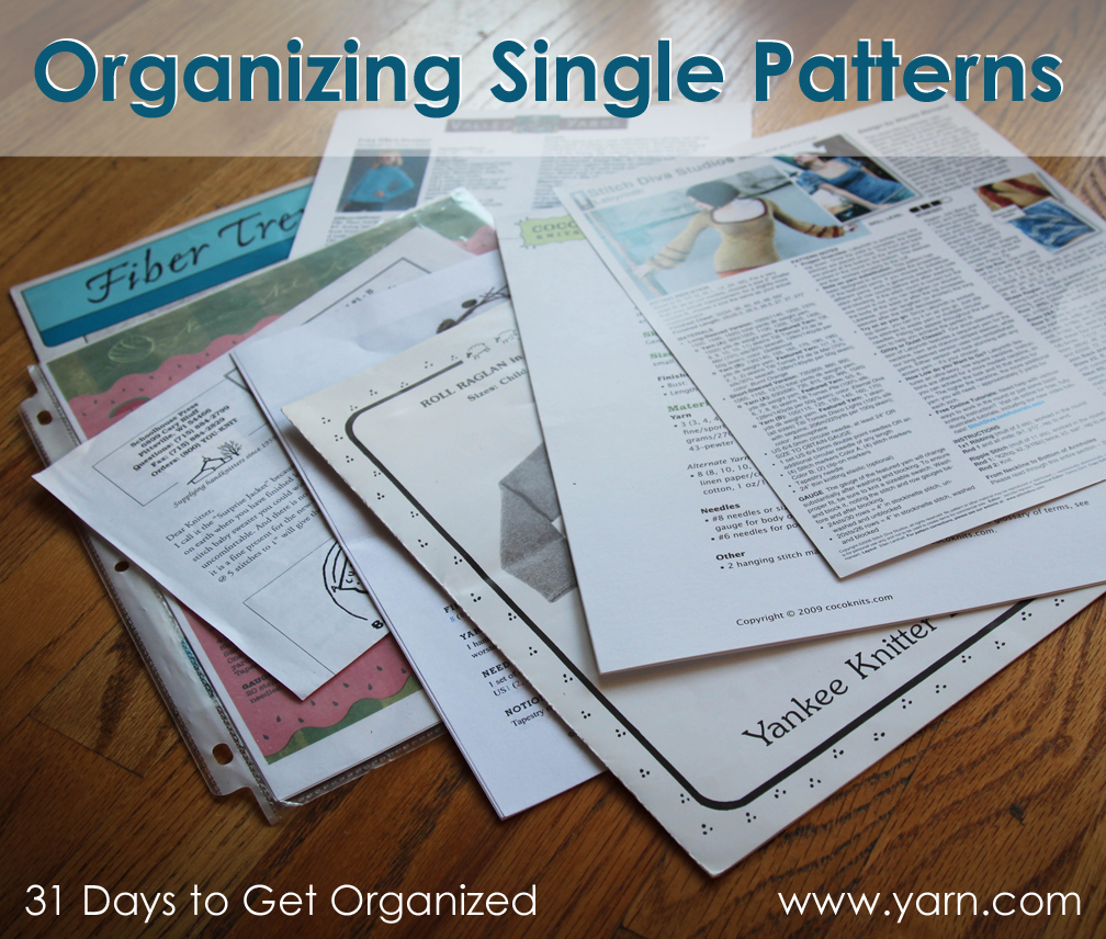 Webs yarn store blog 31 days to get organized organizing your 31 days to get organized organizing your single knitting and crochet patterns bankloansurffo Image collections