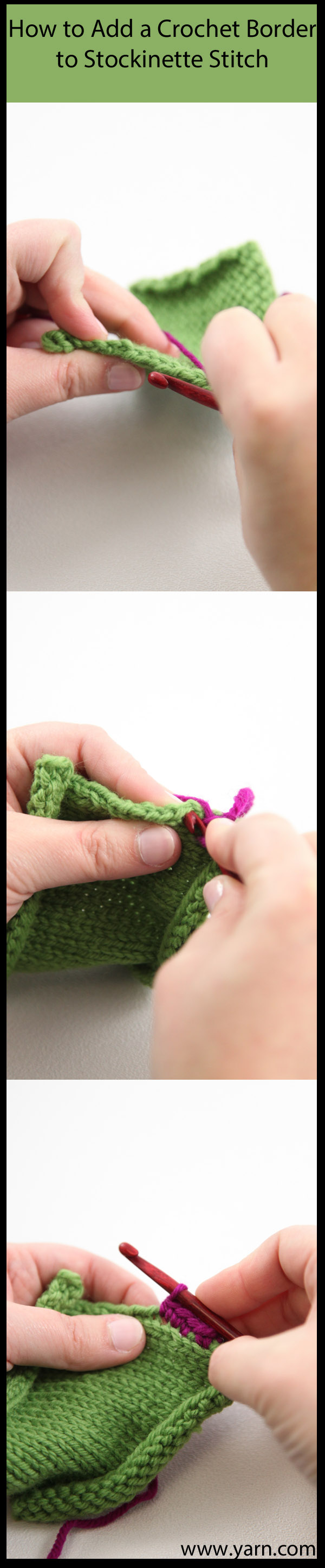 WEBS Yarn Store Blog   Tuesday s Crochet Tip   Adding a Crochet Border to Kni...