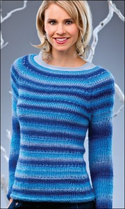 Blue Jewels Pullover, copyright Annies.com