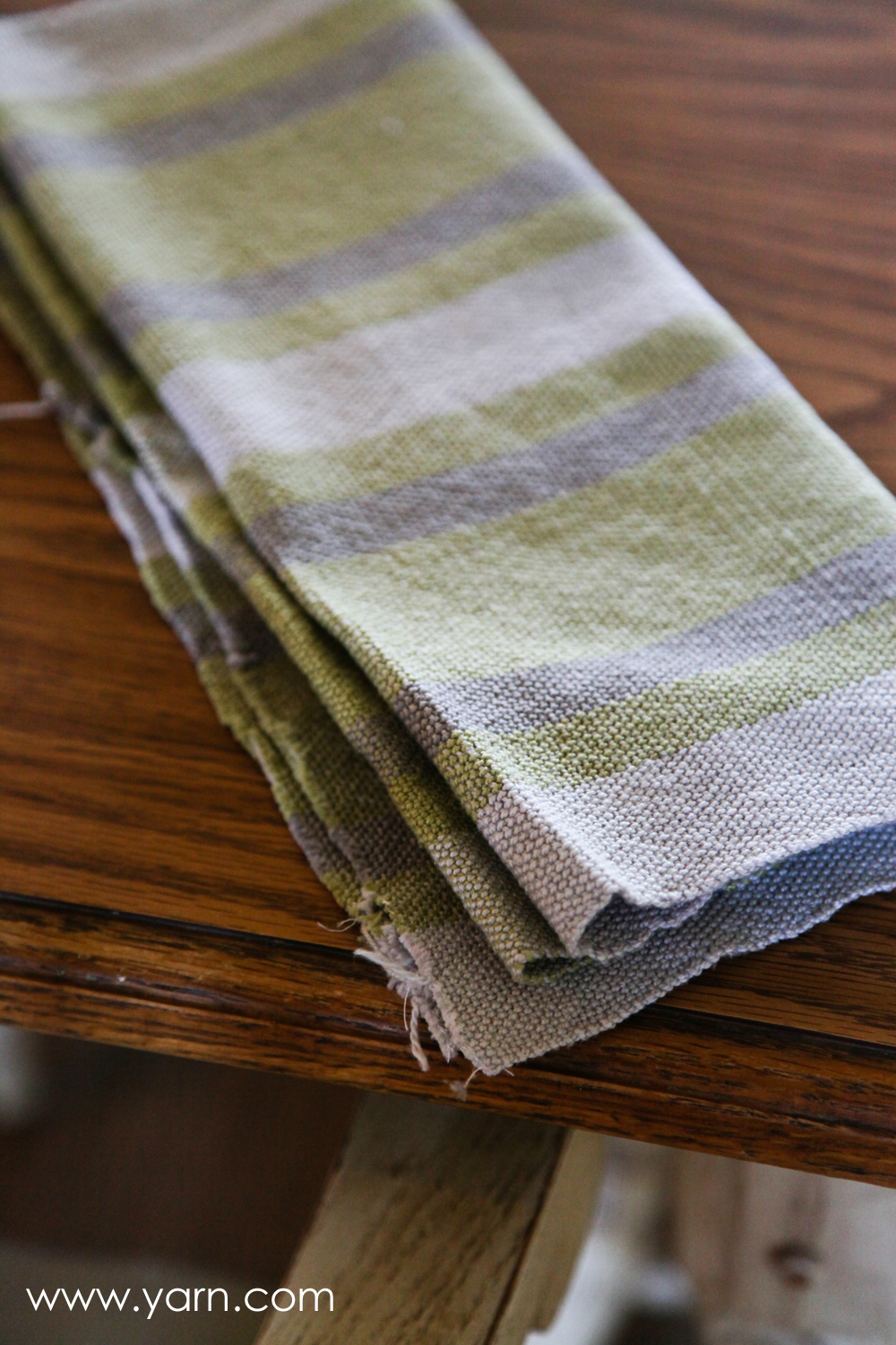 Dishtowels woven with Valley 5/2 Cotton.