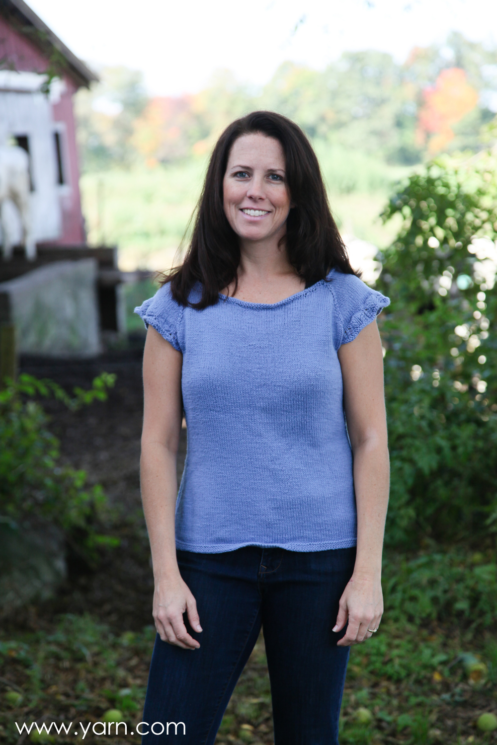 Spring Garden Tee by Alana Dakos knit in Valley Yarns Longmeadow