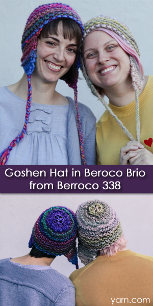 Goshen Hat knit in Berroco Brio