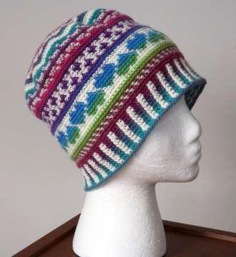 heart fair isle hat