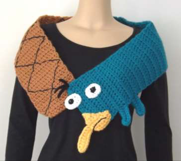 perry platypus scarf