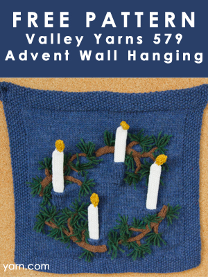 Valley Yarns 579 Advent Wall Hanging Free Pattern