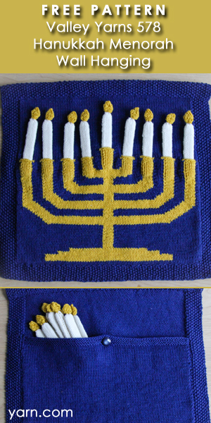 FREE PATTERN Valley Yarns Hanukkah Menorah Wall Hanging