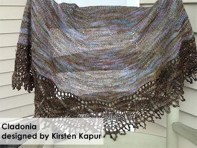 Cladonia Shawl designed by Kirsten Kapur