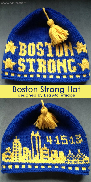Boston Strong Hat designed by Lisa McFetridge