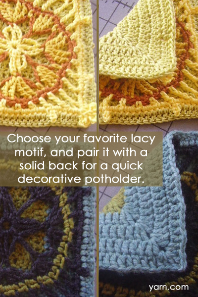 Tuesday's Crochet Tip - Quick and Decorative Potholders