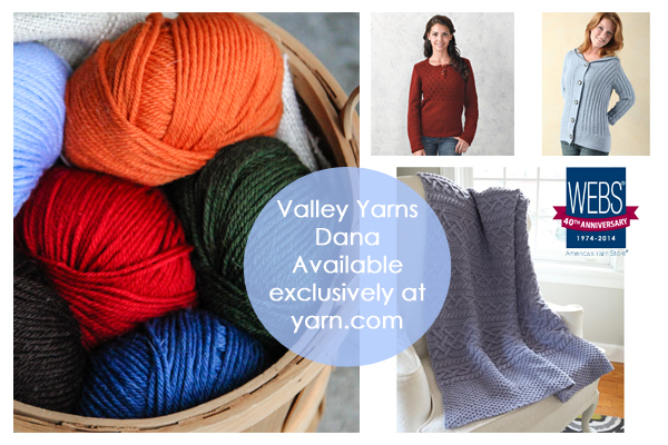 Valley Yarns Dana - available eclusively at yarn.com - While supplies last!