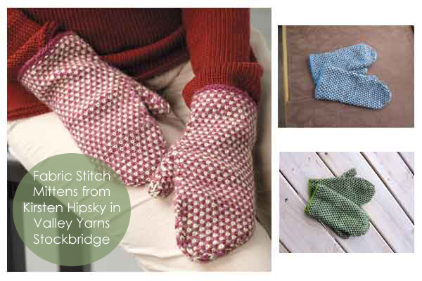 Fabric Stitch Mittens knit in Valley yarns Stockbridge
