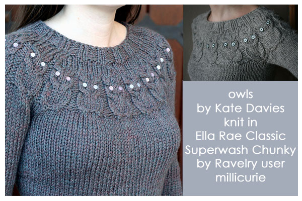 Free Knitting Pattern For Owl Sweater : WEBS Yarn Store Blog   Ravelry