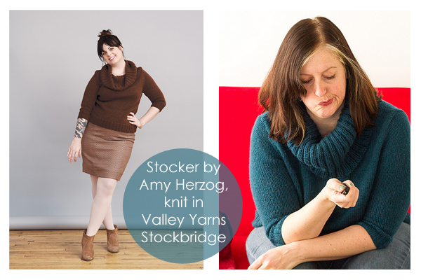 Stocker knit in Valley Yarns Stockbridge