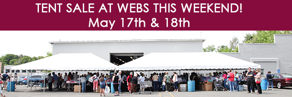WEBS Tent Sale May 17-18, 2014