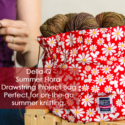 Della-Q Summer Floral Project Bag - available exclusively at yarn.com