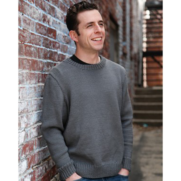 Basic Men's Pullover from Valley Yarns - available at yarn.com