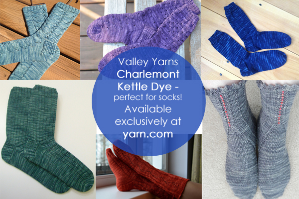 ValleyYarns Charlemont Kettle Dye - perfect for socks! Available at yarn.com