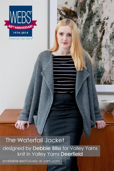 Webs Yarn Store Blog The Waterfall Jacket From Debbie Bliss