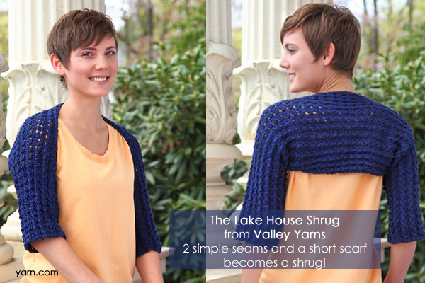The Lake House Shrug from Valley Yarns - available at yarn.com