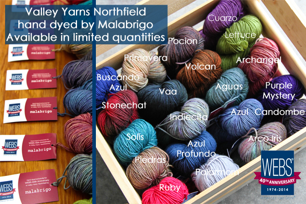 Valley Yarns Northfield hand dyed by Malabrigo, limited quantites! - available exclusively at yarn.com