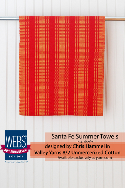 Sante Fe Summer Towels draft designed by Chris Hammel - available exclusively at yarn.com