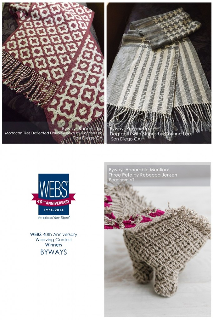 WEBS 40th Anniversary Weaving Contest, winners in the Byways category.