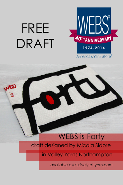WEBS is Forty tapestry draft - FREE DRAFT - available exclusively at yarn.com