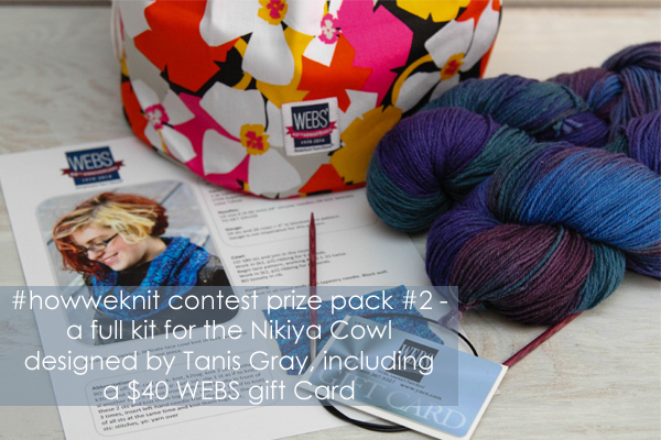 #howweknit Instagram contest prize pack, a full kit for the Nikiya Cowl, designed by Tanis Gray - available exclusively at yarn.com