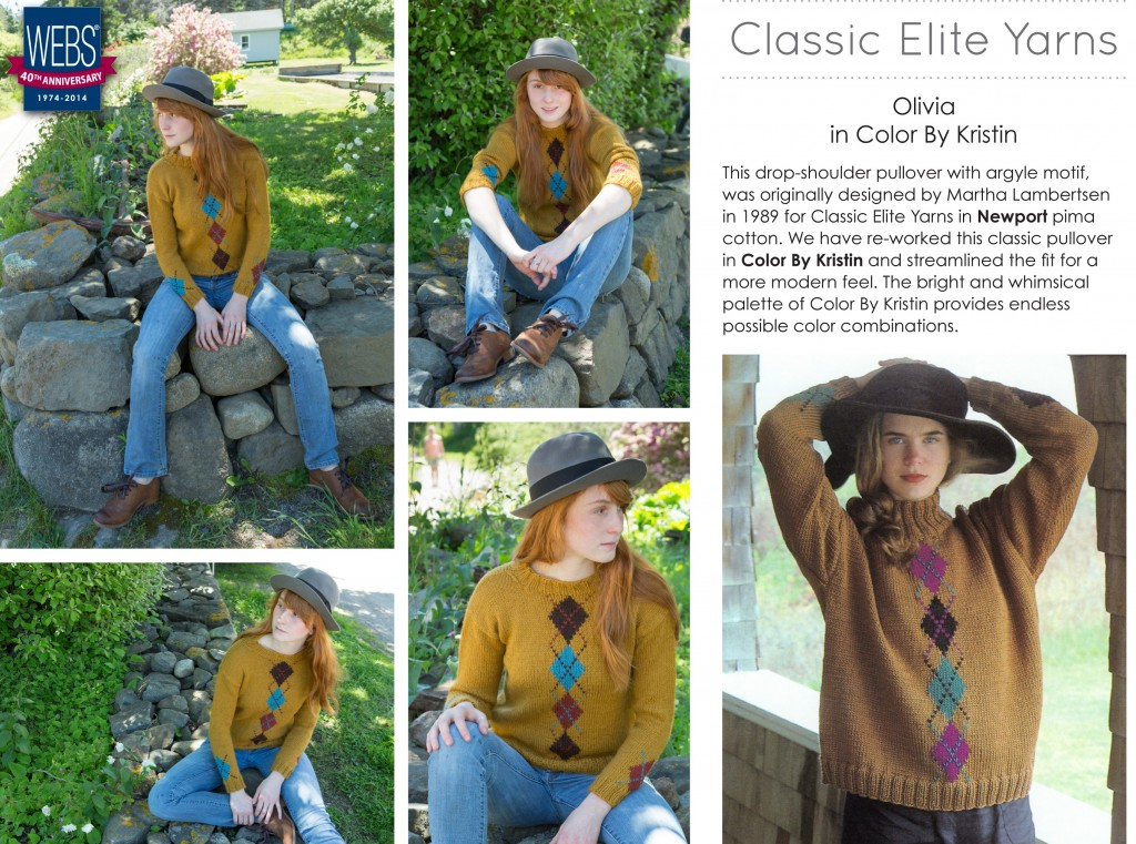 Olivia from Classic Elite Yarns, knit in Color by Kristin - pattern available exclusively at yarn.com
