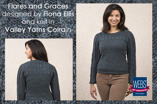 Flares and Graces designed by Fiona Ellis, knit in Valley Yarns Colrain - available exclusively at yarn.com