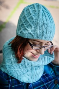jazerant, cabled and beaded