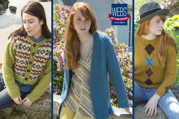 Exclusive designs from Classic Elite Yarns for WEBS 40th Anniversary  - available at yarn.com