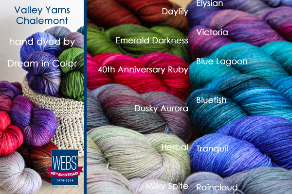 Valley Yarns Charlemont hand dyed by Dream in Color - available exclusively