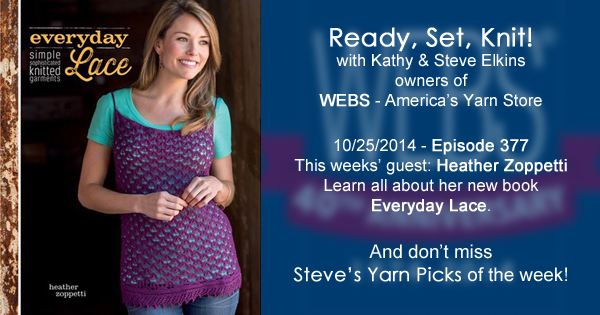 Ready, Set, Knit! Episode 377 with Heather Zoppetti - listen at yarn.com