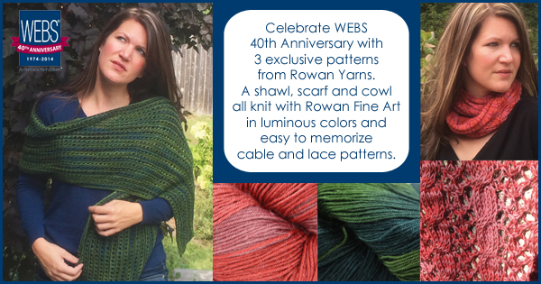 Rowan 40th Anniversary Patterns for WEBS - available exclusively at yarn.com