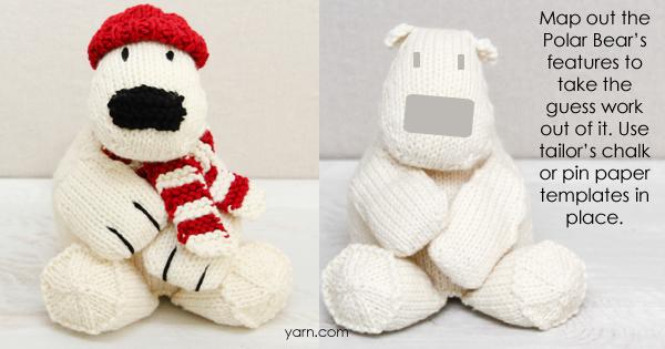 #PolarBearKAL Week 5 at yarn.com