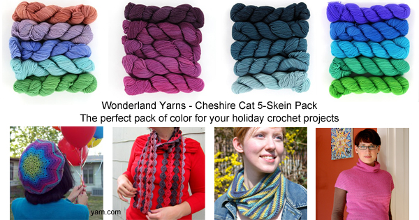 Wonderland Yarns Cheshire Cat 5-Skein Packs - available at yarn.com