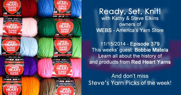 Ready, Set, Knit! ep. 379, Kathy interviews Bobbie Matela - listen now at blog.yarn.com