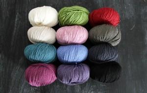 jewel tones and rich neutrals in Valley Yarns Brimfield.