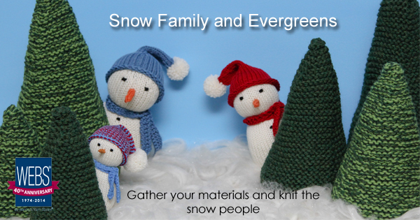 #SnowFamilyKAL on the WEBS blog - blog.yarn.com