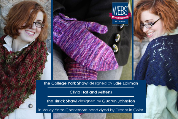 WEBS 40th Anniversary exclusive patterns and products - available at yarn.com