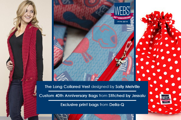 WEBS 40th Anniversary exclusive patterns and products - available at yarn.com while supplies last