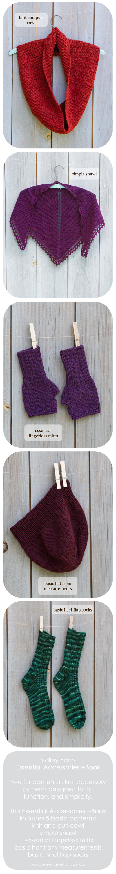 Valley Yarns Essential Accessories eBook - available exclusively at yarn.com